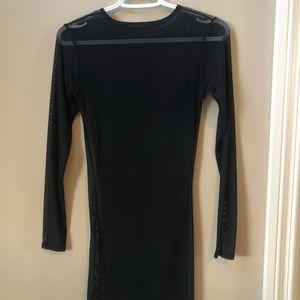Sexy, sheer long sleeve dress